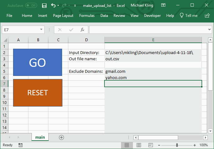 Managing Email Campaign Lists with Excel Macros